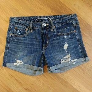American Eagle AE Distressed Denim Jean Shorts